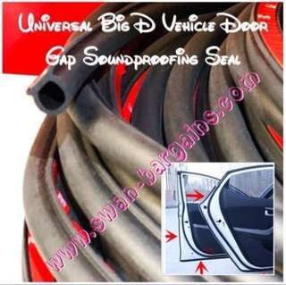Universal Good Quality Big D EPDM Rubber Seal Sound Proof Insulation Wind Stripping w 3M Tape Car SUV MPV for Quieter Sound Proof Ride