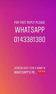 WhatsApp's for fast reply