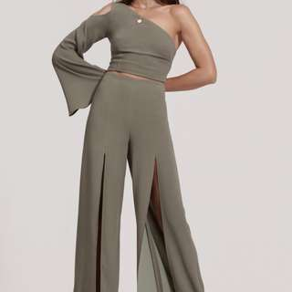 Finders Keepers - Haunted Split Pants In Khaki (Small)