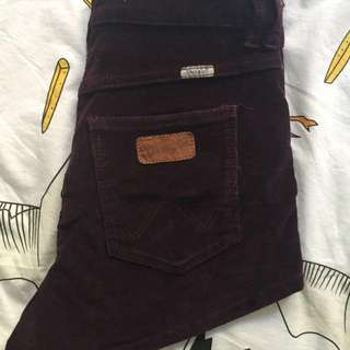 Wrangler Hi Cheeky Purple Size 10 Shorts
