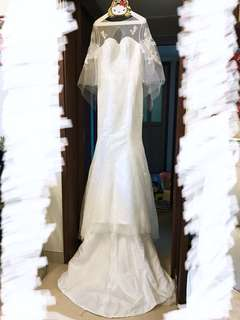 100% new Wedding Dress 魚尾小拖尾婚紗 旅拍