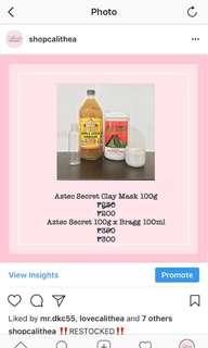 Aztec Secret 100g x Bragg Apple Cider 100ml