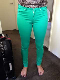 H&M green jeans