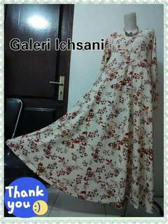 Gamis Payung Waffle Big Size