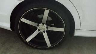 Vossen staggered rims 19 inch for Mercedes c180