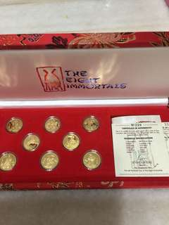 999.9  gold proof  only mintage 500 sets 八仙过海各显神通👍👍👍🤠🤠🤠