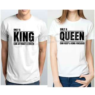 King & Queen Couple Shirt💞Customized