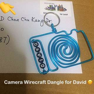 Camera Wirecraft Personalised Keychain / Dangle [Children's Day Teachers Valentine Christmas Raya New Year birthday graduation farewell gifts; uncle anthony] FOR MORE OF SUCH, 👉 http://carousell.com/p/130210386