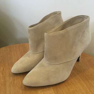 Zara Leather Ankle Boots size 37
