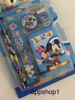 Mickey wallet and stationary packages- goody bag, goodies favors, door gift