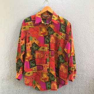 Red printed top