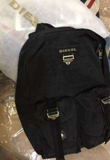 Die*sel Black Backpack —New