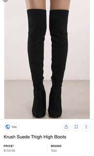 Krush thigh high suede boots
