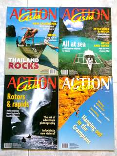 Set of 8 Action Asia magazines