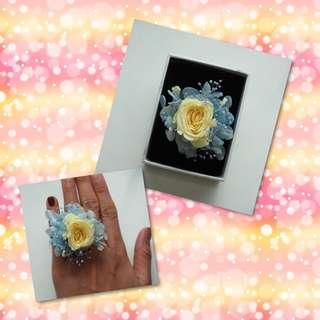 保鮮花戒指-款2