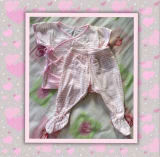St. Patrick Baby Side Tie Top with Matching Footed Bottoms