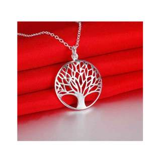 #PayDay30 925 Silver Plated Tree of Life Necklace