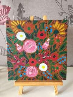 Floral acrylic Decor