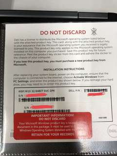 Win8P/Win10P/Win10H product licence key