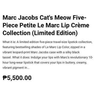Marc Jacobs Beauty 5-pc Petite Le Marc Lip Creme Collection