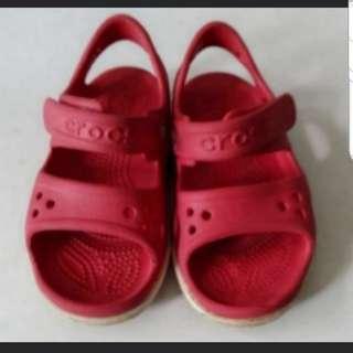 Kids crocband red sandal crocs