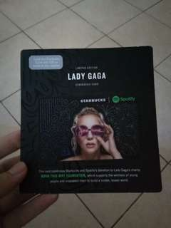 Lady Gaga Starbucks Card