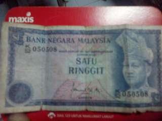 Duit Lama kertas 1,2,5,& 50 malaya