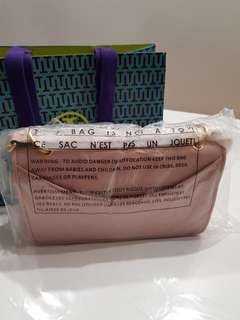 Brand New Authentic Tory Burch Alexa Shoulder Bag Dark Pink Quartz