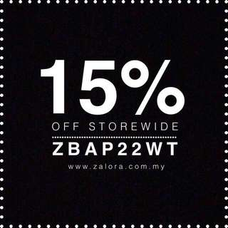ZALORA 15% OFF FOR ALL USERS