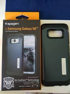 Spigen Slim Armor for Samsung S8 metal slate colour