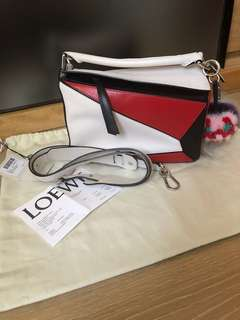 LOEWE Puzzle small Bag(拼色)