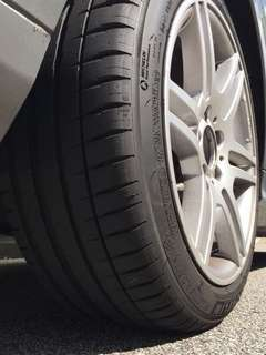 Michelin Pilot Sport 4 225/45/17 for Mercedes Benz W204 C180 C200 C250 C300  BMW Type R Golf GTI