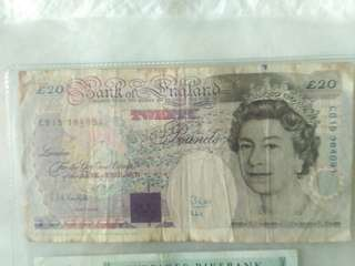 British Pound 20 Pound Michael Faraday