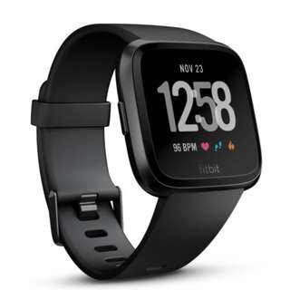 FITBIT VERSA SMART WATCH BLACK ROSEGOLD AND SILVER