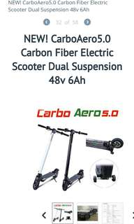 Electric Scooter : Carboaero 5.0 with carbon body ( less than 6 months very new )