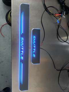 Jazz,Fit,Shuttle Moving Scuff Plate With LED