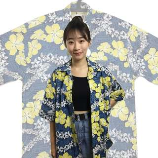 🚚 [古癮]🌴夏威夷襯衫 韓國製 古著 復古 二手