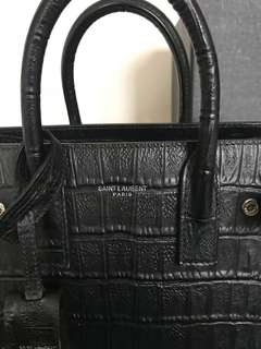 Saint Laurent Sac De Jour Ysl nano in croc effect
