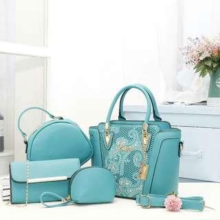 Bonia 4 in 1Handbag (Turquoise)