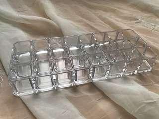 Acrylic 24 slot lipstick organizer