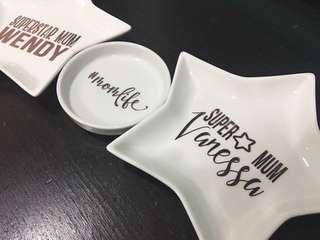 Trinket Tray- Customised Personalised Jewelry Star Dish