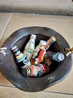Vintage Coca-Cola Art Series & pot