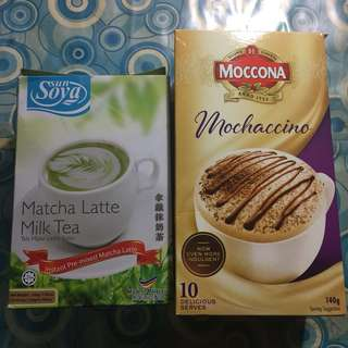 Moccona Mochaccino & sunSoya Matcha Latte Milk Tea