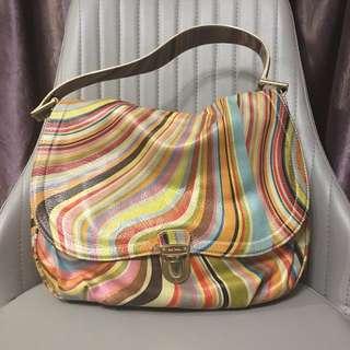 Paul Smith Classic Swirl Shoulder Bag 全牛皮經典條紋手袋 #MAYFLASHSALE