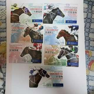 2006年香港賽馬會 發行 香港賽馬英雄卡 共7張 包郵