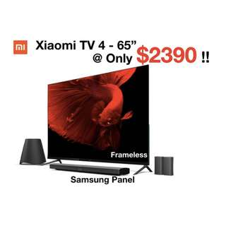 """TV xiaomi mi tv 65""""inches with sound system Smart android tv 49inches 55inches"""