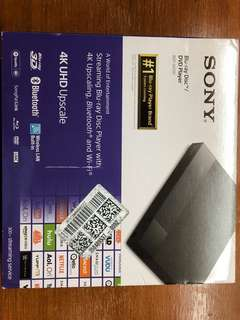 Sony 4K Blu Ray Disc/DVD player BDP-S6700