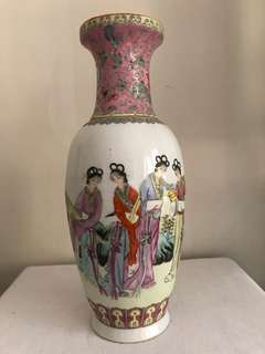 A Famille rose Porcelain Beauty Vase