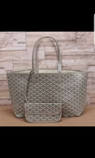 goyard tote bag with pouch NA