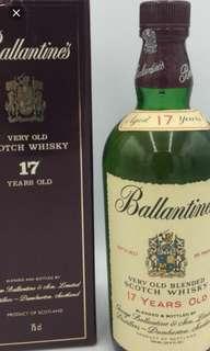 Whisky~陳年百靈壇17年威士忌750ml with box 。